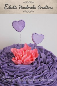 Eclectic Handmade Creations | Ruffled Buttercream Frosting Cake
