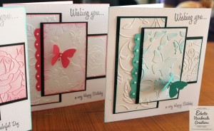 Cards made at the Eclectic Handmade Creations' Ladies Crafternoon