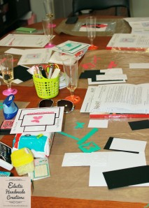 Crafting mess at the Ladies Crafternoon by Eclectic Handmade Creations